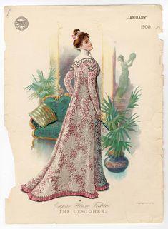 Tea gown- fashion plate, January 1900.
