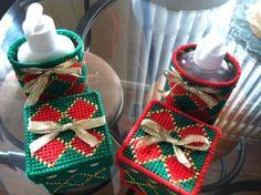 Handmade Christmas Soap Dispenser Cover with Matching Potpourri Box