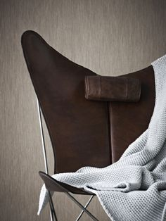 .Knoll BKF Chair. Leather and metal. A folding chair.