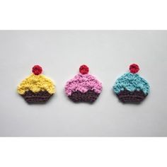Cupcake Applique Crochet