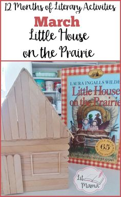Building a craft stick log cabin with your kids is just one of the fun Little House on the Prairie activities you can do while you read the children's book.