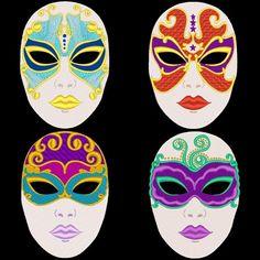 Como decorar mascara de yeso Imagui mscaras Pinterest Yeso
