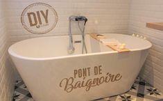 En lien avec : DIY : Transformer une caisse d'une bouteille en jardinière Range Buche, Upcycle, Bathtub, Bathroom, Taupe Bathroom, Chic Bathrooms, Bathroom Green, Zen Bathroom, Standing Bath
