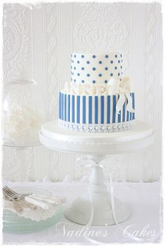 Pale blue and white for a princess by Nadine's Cakes & My little white home, via Flickr