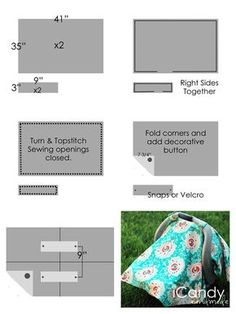 43 Super Ideas For Baby Items Diy Sewing Projects Fun Baby Diy Projects, Diy Sewing Projects, Sewing Projects For Beginners, Knitting Projects, Sewing Ideas, Car Seat Canopy Pattern, Car Seat Cover Pattern, Diy Seat Covers, Kids Canopy
