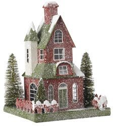 Red Christmas House