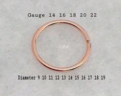 9-20mm Conch Ring Hoop Gauge 14 16 18 20 22 24 Nose Ring Septum Lip Belly button ring UnbridledEssence 15 12 mm