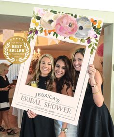 Bridal Shower Photo Prop Wedding Photo Prop Sweet Blooms DIGITAL FILE Baby Shower Photo Prop Frame Printed Option Available - Awesome Baby Names - Ideas of Awesome Baby Names - Bachelorette Party Ideas Bachelorette Photo Prop by CreativeUnionDesign Baby Shower Photo Props, Bridal Shower Photos, Bridal Shower Party, Bridal Shower Decorations, Bridal Showers, Wedding Decorations, Bridal Pics, Shower Centerpieces, Wedding Photo Props