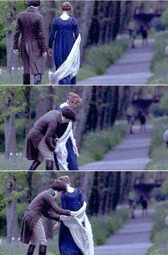 Hugh Grant (Mr. Edward Ferrars) & Emma Thompson (Elinor Dashwood) - Sense and Sensibility (1995) #janeausten #anglee