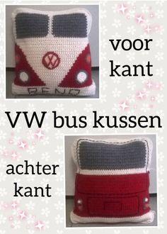Vw Bus, Volkswagen, Knit Crochet, Crochet Hats, Drink Sleeves, Crocheting, Knitting, Amigurumi, Hand Crafts