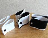 Dog cuffs, custom dog tuxedo cuffs for wedding, dog wedding accessory, dog cuffs for wedding, dog tuxedo cuffs, black white, pet dog wedding