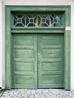 Faded green door, Oslo, Norway