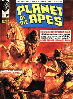 Planet of the Apes No.1 - 26th October 1974. The UK version of the Marvel comic