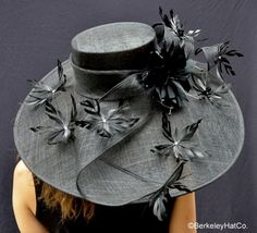 Kentucky Derby Hat Black Featherdrift