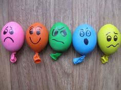 """Stress Ball Balloons or For Pre-school Play. Make these playdough-filled balloons for improving fine motor skills and discussing emotions or including in your """"Calm Down Kit."""" -tkz"""