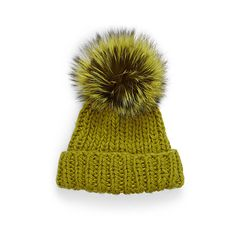 Simons Giant fox fur pompom tuque ( 48) ❤ liked on Polyvore featuring  accessories 3fa9db611f86