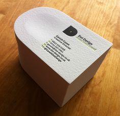 Letterpress Business Card - www.dot-design.co.uk