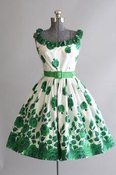 Vintage 1950s Carol Craig Floral Dress