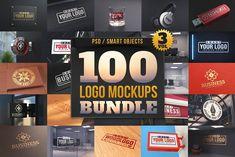 100 Logo Mockups Bundle Vol.3 by pixaroma on @creativemarket
