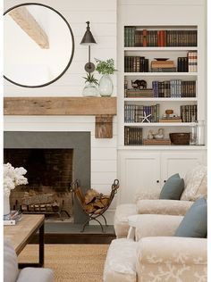 3 Simple and Modern Tips Can Change Your Life: Fireplace Surround With Hearth open fireplace bedroom.Open Fireplace With Stove vintage fireplace surround.Fireplace Surround With Hearth. Fireplace Mantle Designs, Brick Fireplace Mantles, Fireplace Built Ins, Farmhouse Fireplace, Home Fireplace, Fireplace Remodel, Living Room With Fireplace, Fireplace Surrounds, Home Living Room