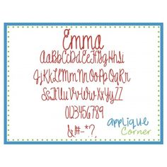 Emma Embroidery Font
