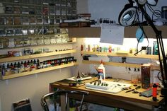 wargame painting desk   ... Wargaming Forum • View topic - What does your Painting Desk look