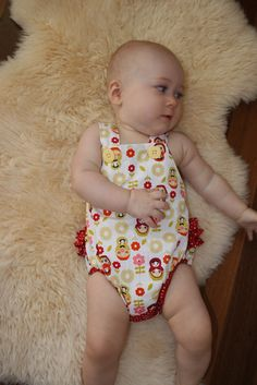 Liese & Alyssa: Ruffle Sunsuit - Free pattern by Little Betty