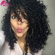 7a Peruanische Verworrene Lockige Reine Haarwebart Verworrene Lockige Häkeln Haarverlängerungen 100 Menschenhaar Nähen In Extensions Freche Mädchen haar