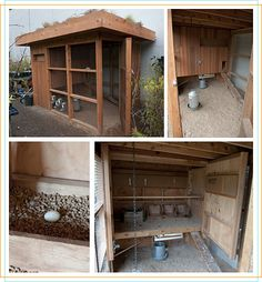 Architectural approach to Chicken Coops. The gardens on the roof might be hard to tend on a daily basis...