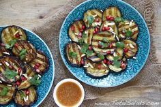 Recipe: Grilled Aubergine Salad with Spicy Maple Dressing - sweet, spicy and tangy!
