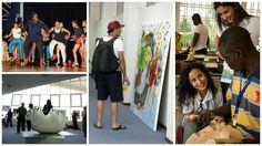 Ateliers sculptures, peintures et danse aux VIes Jeux de la Francophonie de Beyrouth, Liban, 2006