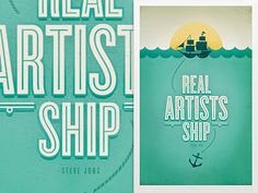 real artists ship. -