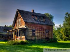 David Hook Photography: Old House, Val-Jalbert Monuments, Little Houses, Cottages, Villa, David, Memories, House Styles, Photography, Home Decor