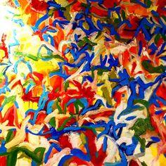 "Once More o/c 48x48"" www.stevenwmiller.com at www.byrdeandtheb.com #art #artist #modern #painting #love #beauty #shop #fun #color #ny #la #london"
