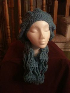 Hat and scarf....