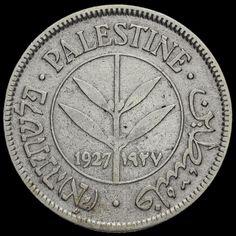 Palestine 1927 Silver 50 Mils