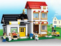 #transformer city series building block toys banya's apartment & courier minifigure for free
