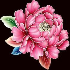 DIY Diamond Painting Gold Edged Blooming Pink Peony - craft kit in 2019 One Stroke Painting, Fabric Painting, Fabric Paint Designs, Peonies Tattoo, Plant Drawing, Decoupage Vintage, Japanese Flowers, Silk Art, 5d Diamond Painting