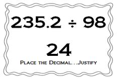 Math Coach's Corner: Multiplying and Dividing Decimals Using Number Sense