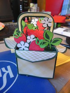 Strawberry Box Card for Mother's Day...came from SVG Cuts.