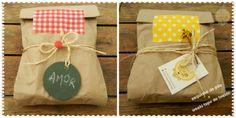 Embalagem para presente com saquinho de pão