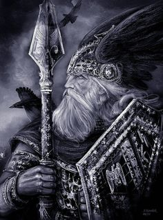 Odin Reading Channelled Guidance from the Powerful Norse God