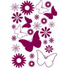 Fores y #mariposas, #vinilo decorativo