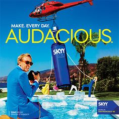 """Gruppo Campari has launched a new US marketing campaign for Skyy Vodka, which draws inspiration from the brand's history of """"innovation and entrepreneurial attitude"""" Skyy Vodka, Innovation, Campaign, Alcohol, Creative, Retail, Clock, California, Business"""