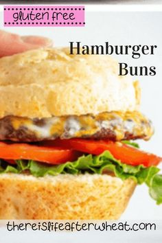 FINALLY a gluten free hamburger bun that is soft, bendable, and every bit as good as a regular wheat bun! In fact, we think you just might like it more 😉 Gluten Free Grains, Gluten Free Flour, Wheat Free Recipes, Bread Recipes, Summer Recipes, Fall Recipes, Gluten Free Hamburger Buns, Best Gluten Free Desserts, Gluten Free Living