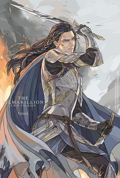 Elven warrior. Semi realistic.