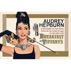 AUDREY HEPBURN Poster Breakfast at Tiffany's Gold 61 x 91 cm