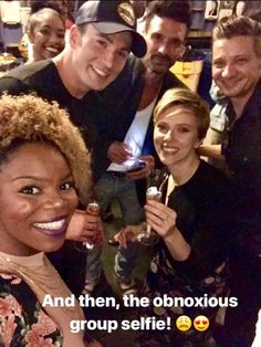 Chris Evans, Scarlett Johansson, Jeremy Renner and Frank Grillo