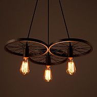 Loft Retro Restaurant Bar Pendant Lamps American country wrought iron chandeliers industrial style wheels – USD $ 210.89