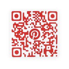 Placa QR Code Pinterest